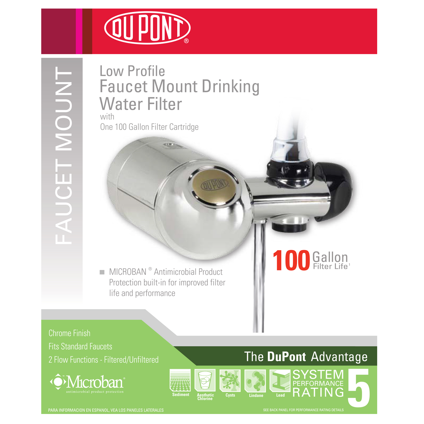 DuPont WFFM300XCH Low Profile Faucet Mount Drinking Water Filter ...