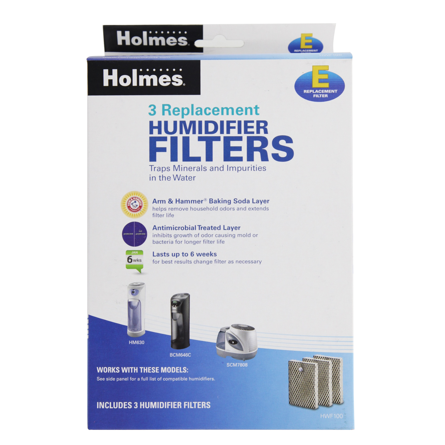 Details about Holmes Type E HWF100UC3 Replacement Humidifier Filter #326899
