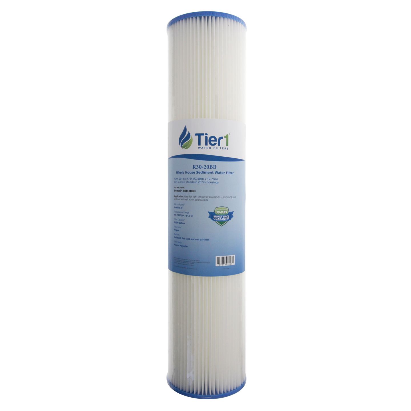American Plumber W30PEHD 30 Micron Whole House 10 x 4.5 Sediment Filter