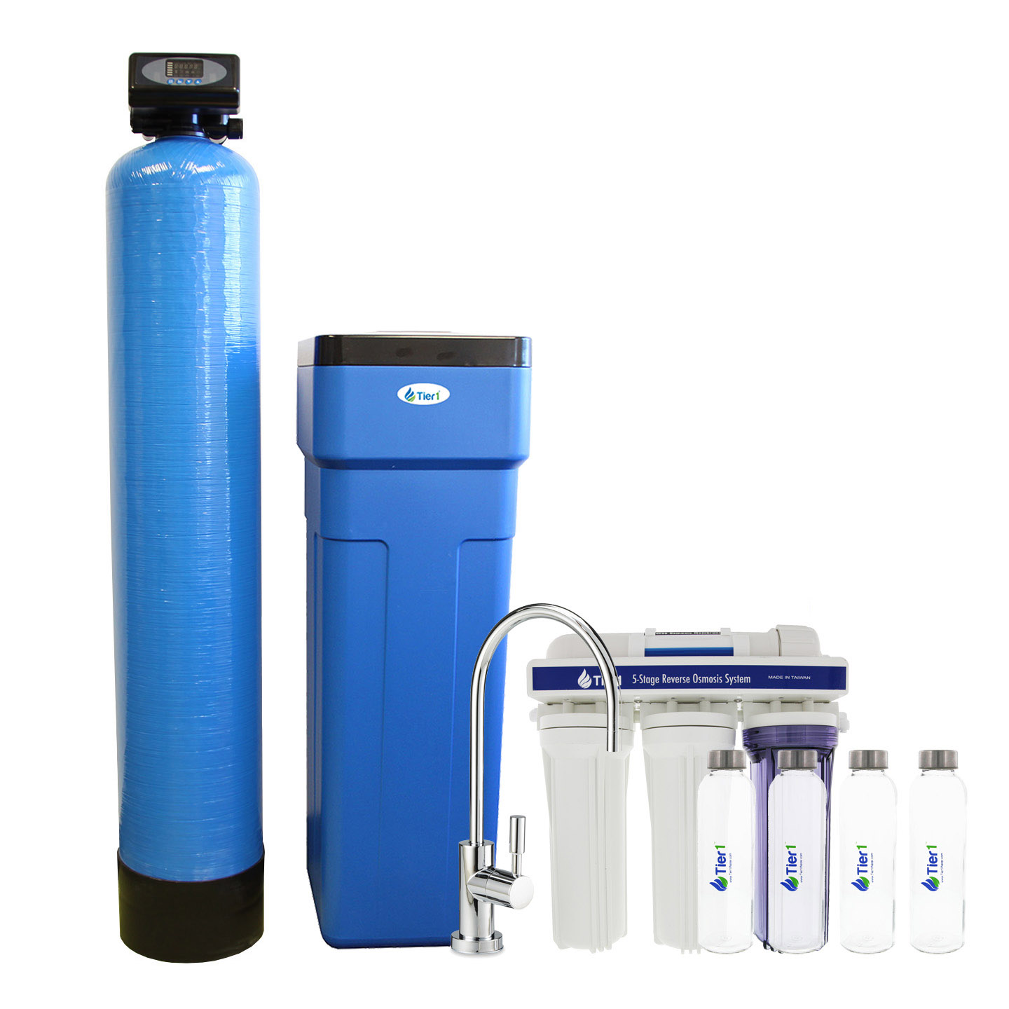 48 000 Grain Capacity Water Softener 5 Stage Ro System 4