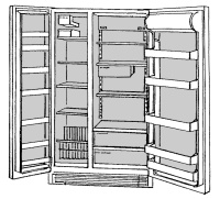 Side By Side Refrigerator Food Compartments