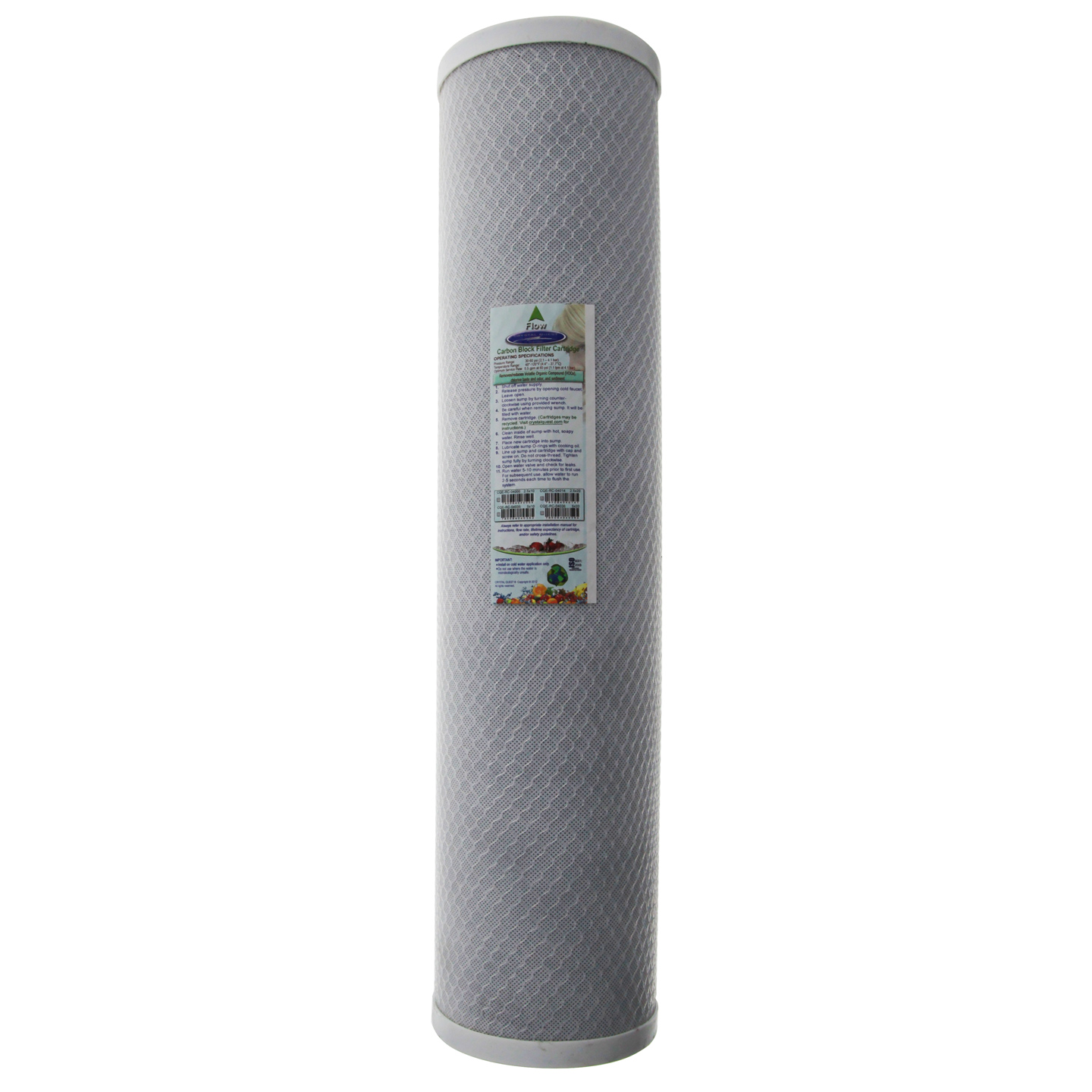 Carbon Block Water Filter Cartridge CRYSTAL-QUEST-CQE-RC-04036