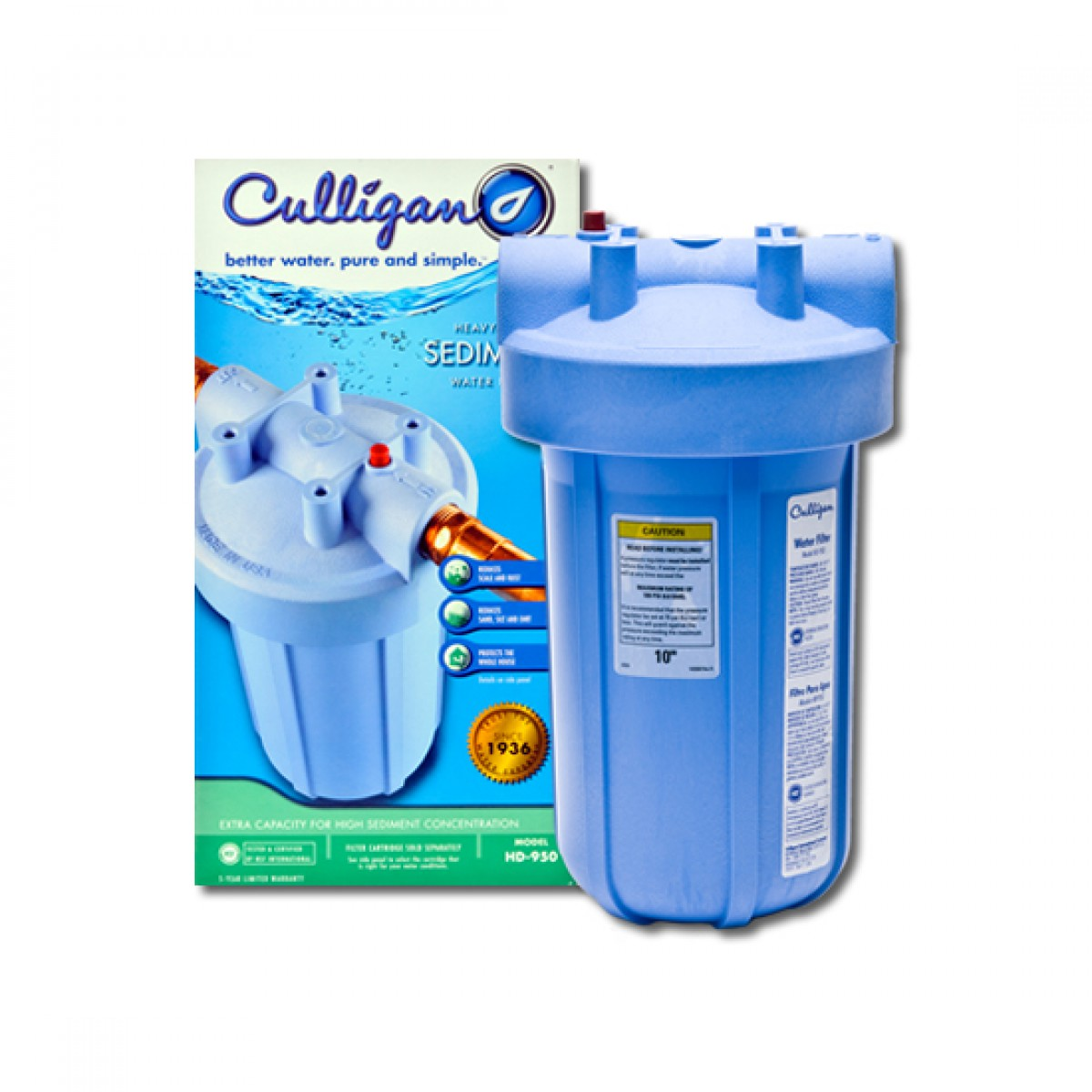 Hd 950 culligan whole house water filter for Water softener for 4 bedroom house