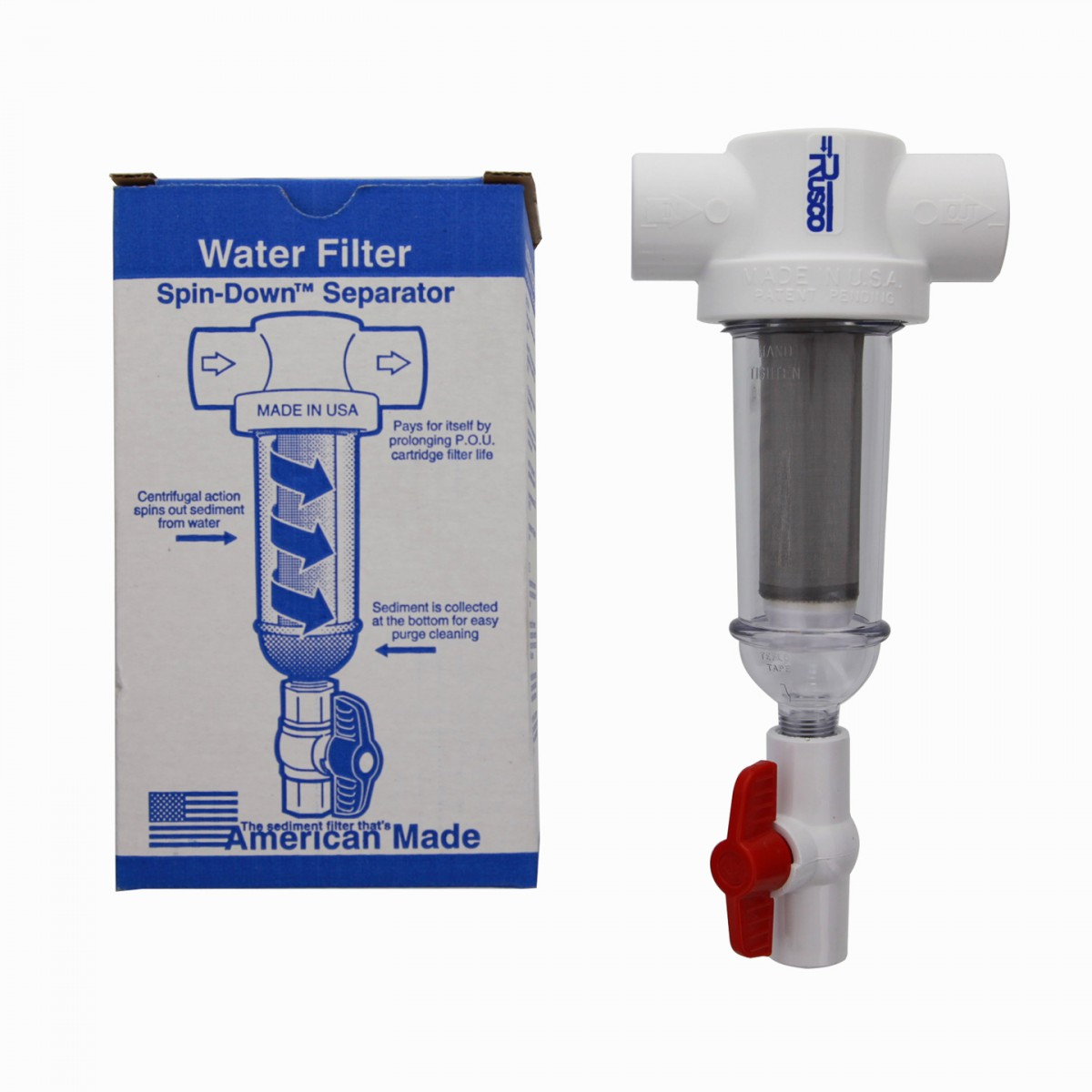 1 100ss F Rusco Spin Down Water Filter System