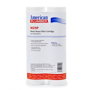 W25P American Plumber Whole House Sediment Filter Cartridge (2-Pack)