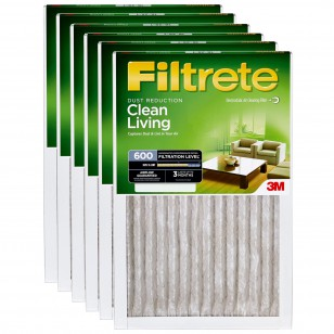 3M Filtrete 600 Dust and Pollen Filter - 14x25x1 (6-Pack)