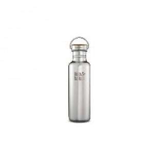 K27SSLRF-MS Klean Kanteen Reflect 27-Ounce Stainless Steel Water Bottle with Bamboo cap - Mirrored Finish