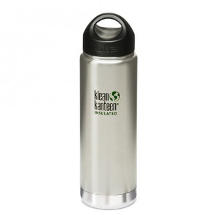 K20VWSSL Klean Kanteen 20-Ounce Stainless Steel Wide Insulated Bottle with Loop-cap