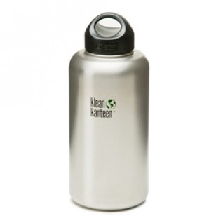 K64WSSL Klean Kanteen 64-Ounce Stainless Steel Wide Mouth Bottle with Loop-cap