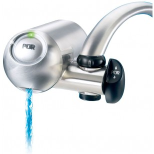 FM-9100M PUR 3-Stage Horizontal Faucet Filter System - Stainless Steel