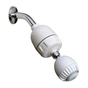 CQ-1000-MS Rainshowr Shower Filter System with Pro Massage - White
