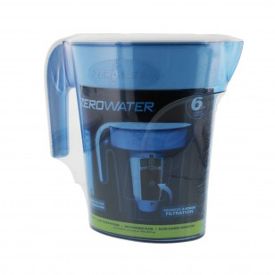 ZP-006 ZeroWater 6-cup Space Saver Water Pitcher - Blue