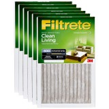 Filtrete 600 Dust Reduction Clean Living Filter - 20x20x1 (6-Pack)