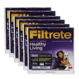 Filtrete 1500 Ultra Allergen Healthy Living Filter - 14x14x1 (6-Pack)