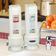 CQE-CT-00132 Crystal Quest Countertop Fluoride Water Filter: Double Fluoride PLUS
