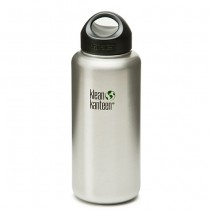 K40WSSL Klean Kanteen 40-Ounce Stainless Steel Wide Mouth Bottle with Loop-cap