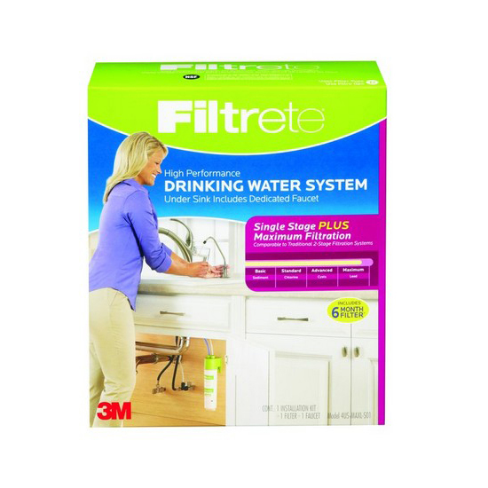 4US-MAXL-S01 3M Filtrete Drinking Water Filtration System (Single Stage) FILTRETE-4US-MAXL-S01