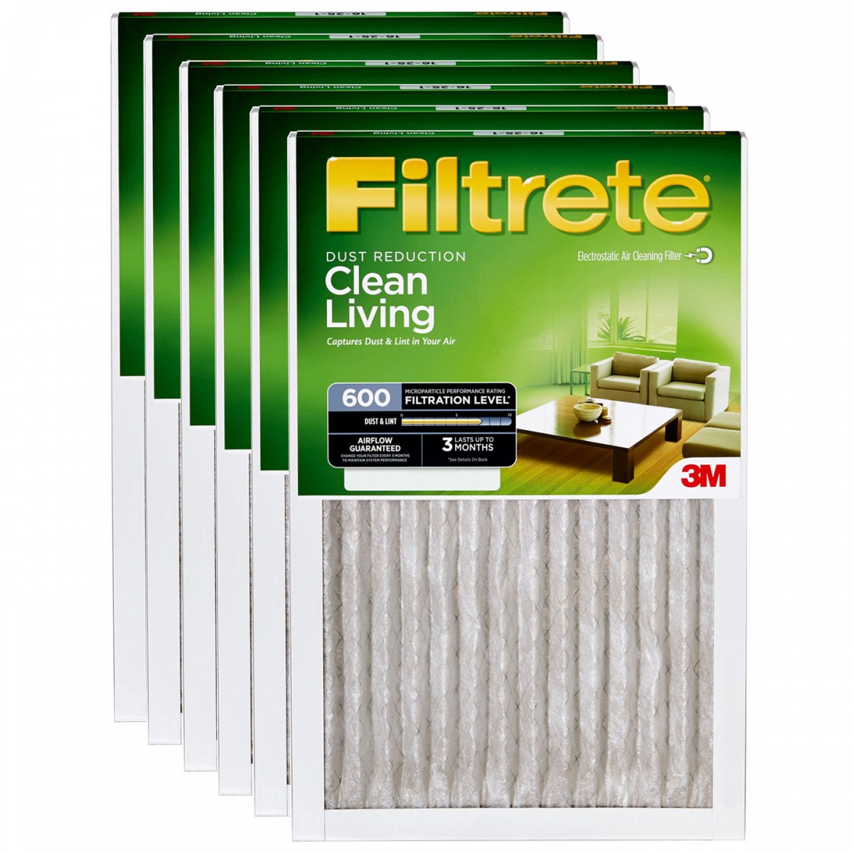 10x20x1 3M Filtrete Dust and Pollen Filter (6-Pack) FILTRETE_DUST_10x20x1_6_PACK