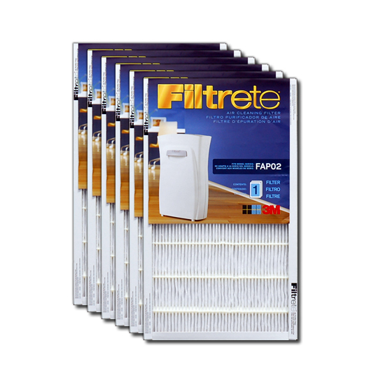 Filtrete FAPF02-6 Ultra Clean Air Purifier Replacement Filter (6-Pack) FILTRETE_FAPF02_6_PACK