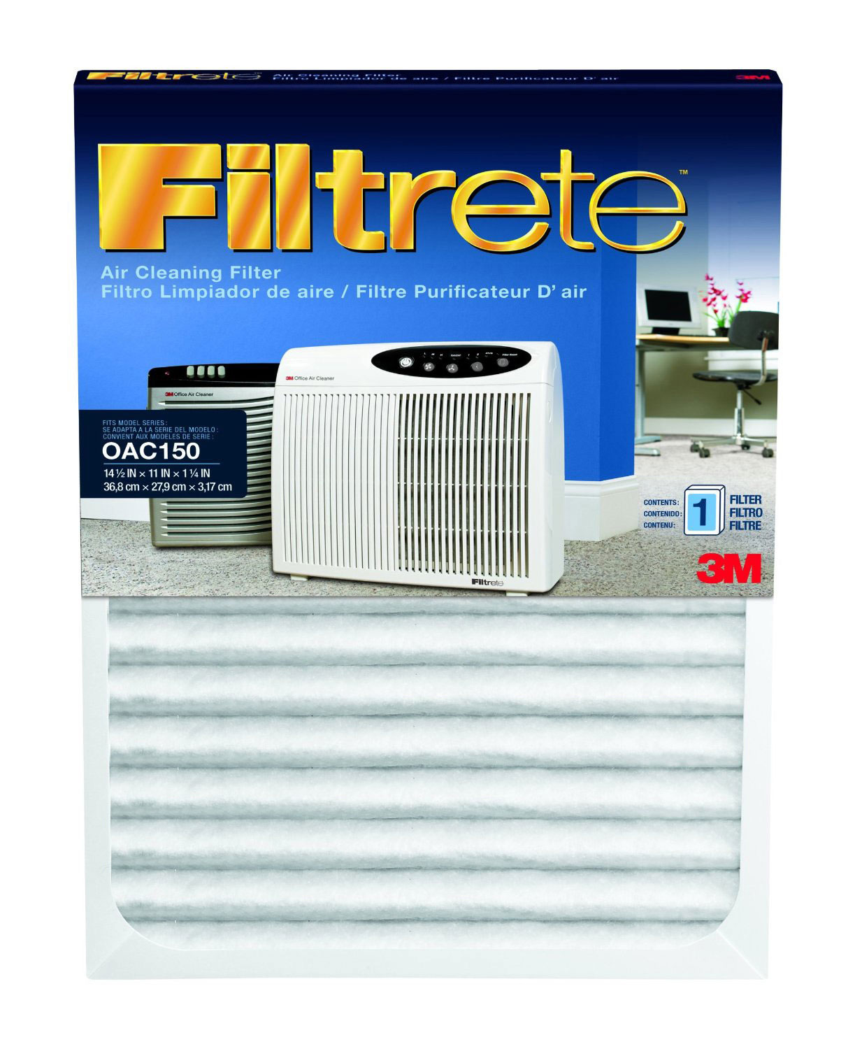 OAC150RF-6 3M Filtrete Office Air Purifier Replacement Filters (6-Pack) FILTRETE_OAC150RF_6_PACK