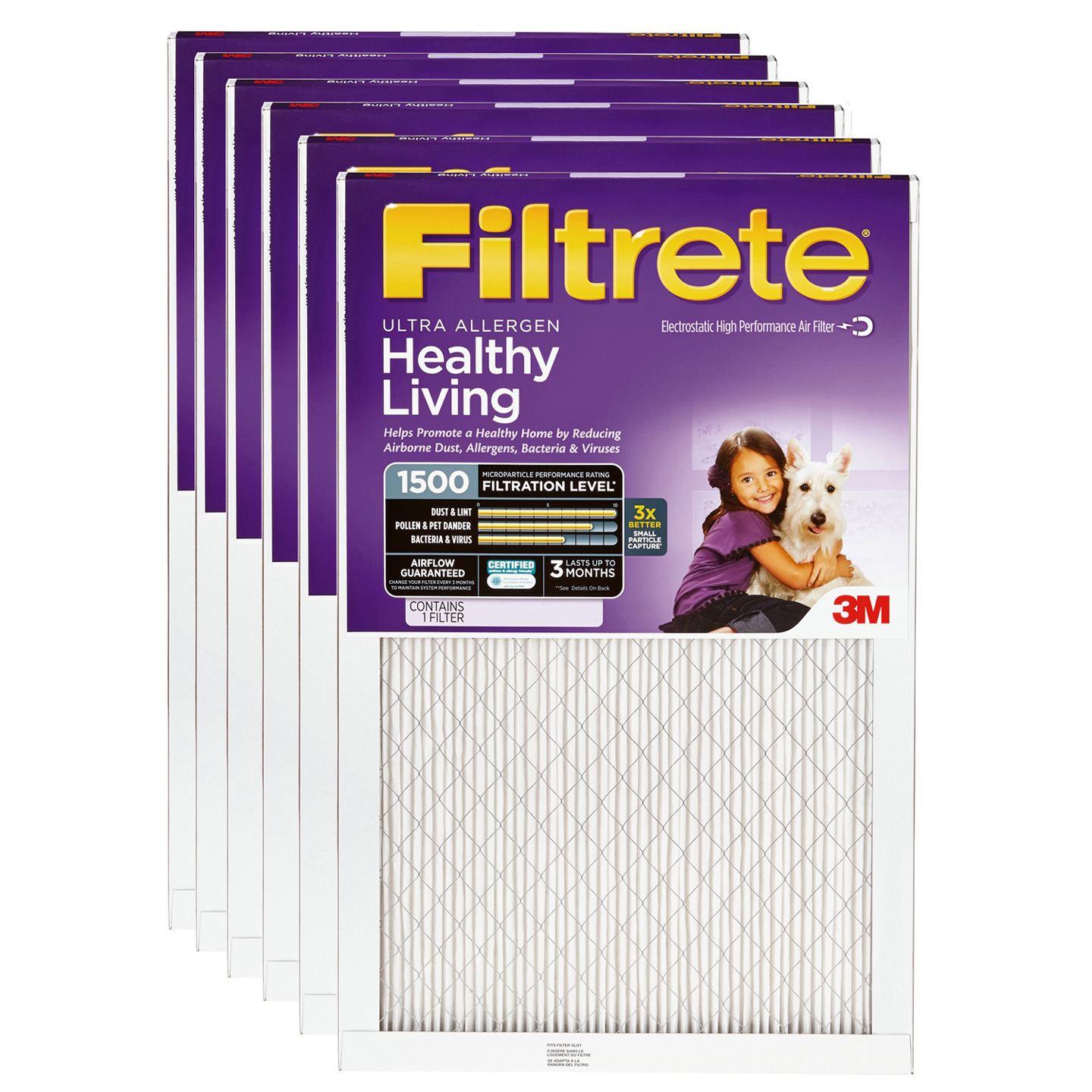 10x20x1 3M Filtrete Ultra Allergen Filter (6-Pack) FILTRETE_ULTRA_10x20x1_6_PACK