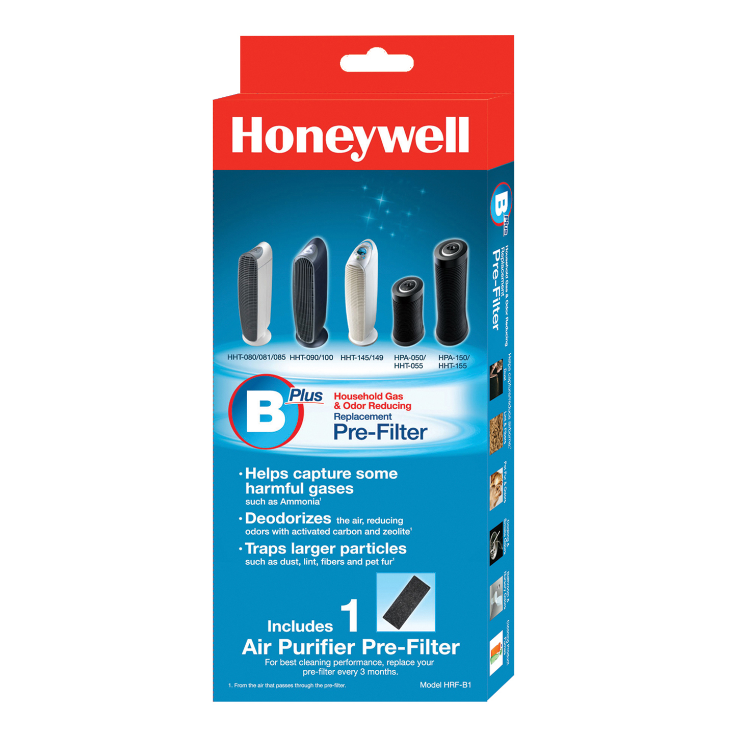 HRF-B1 Honeywell Household Odor and Gas Reducing Pre-filter HONEYWELL-HRF-B1