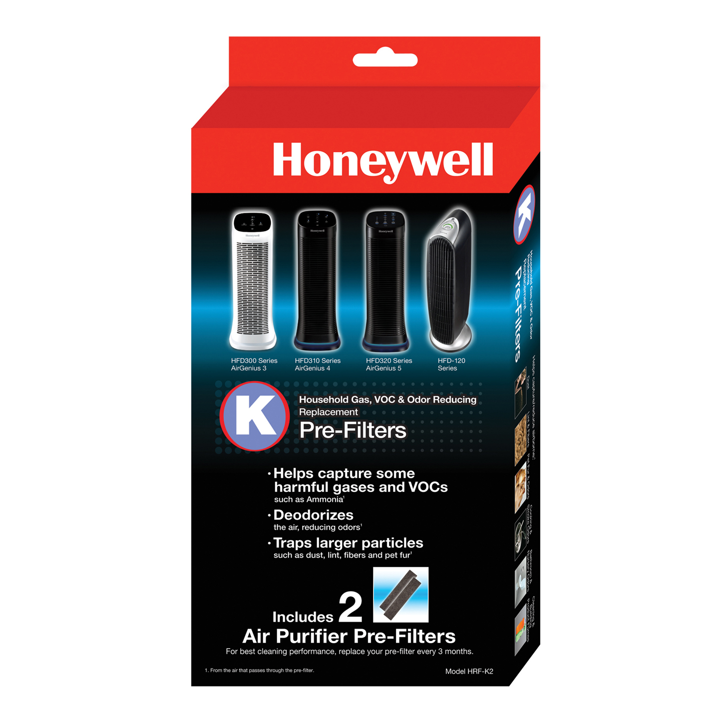 HRF-K2 Household Odor and Gas Reducing Pre-filter (2-pack) by Honeywell HONEYWELL-HRF-K2
