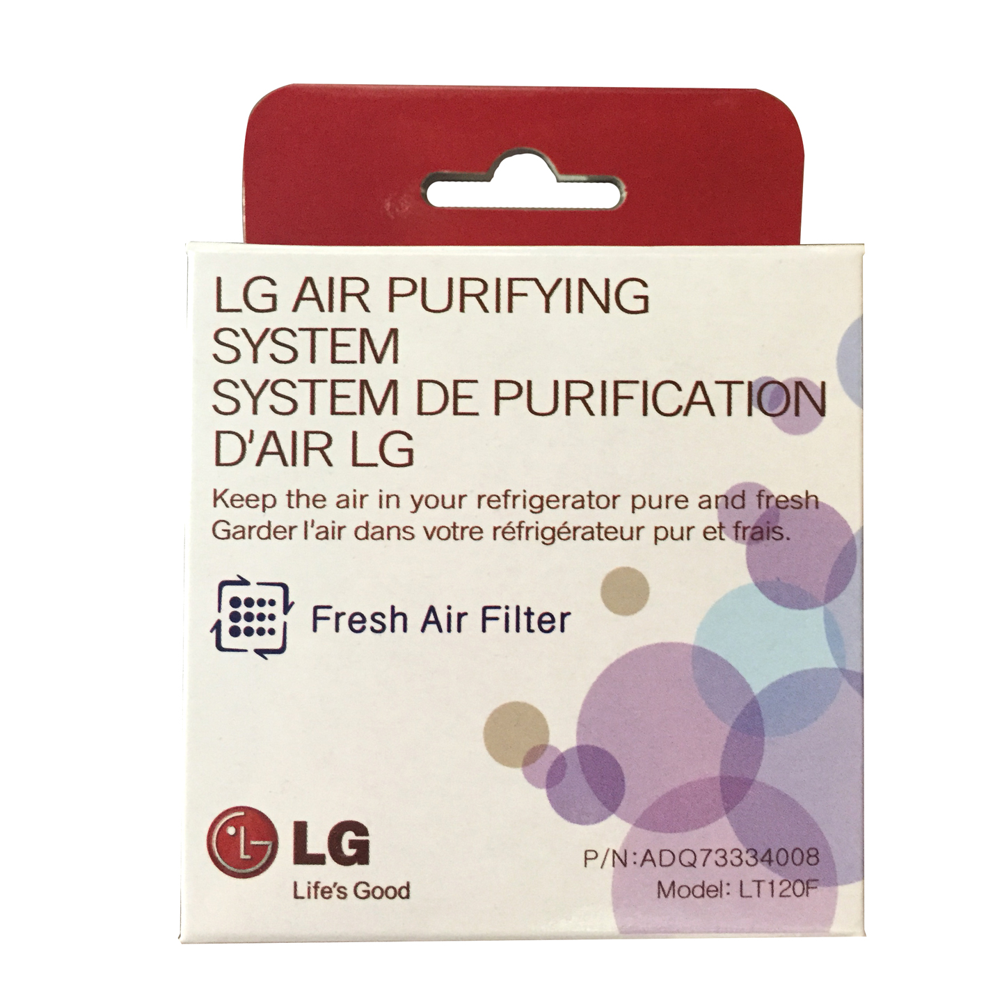 LG Fridge Air Filter, Fits LT120F Part # 9918, ADQ73334008 & ADQ73214404 278284348