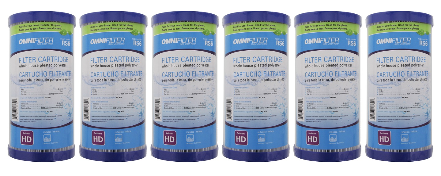 RS6-SS2-S06 OmniFilter Whole House Water Filter Cartridge (6-Pack)