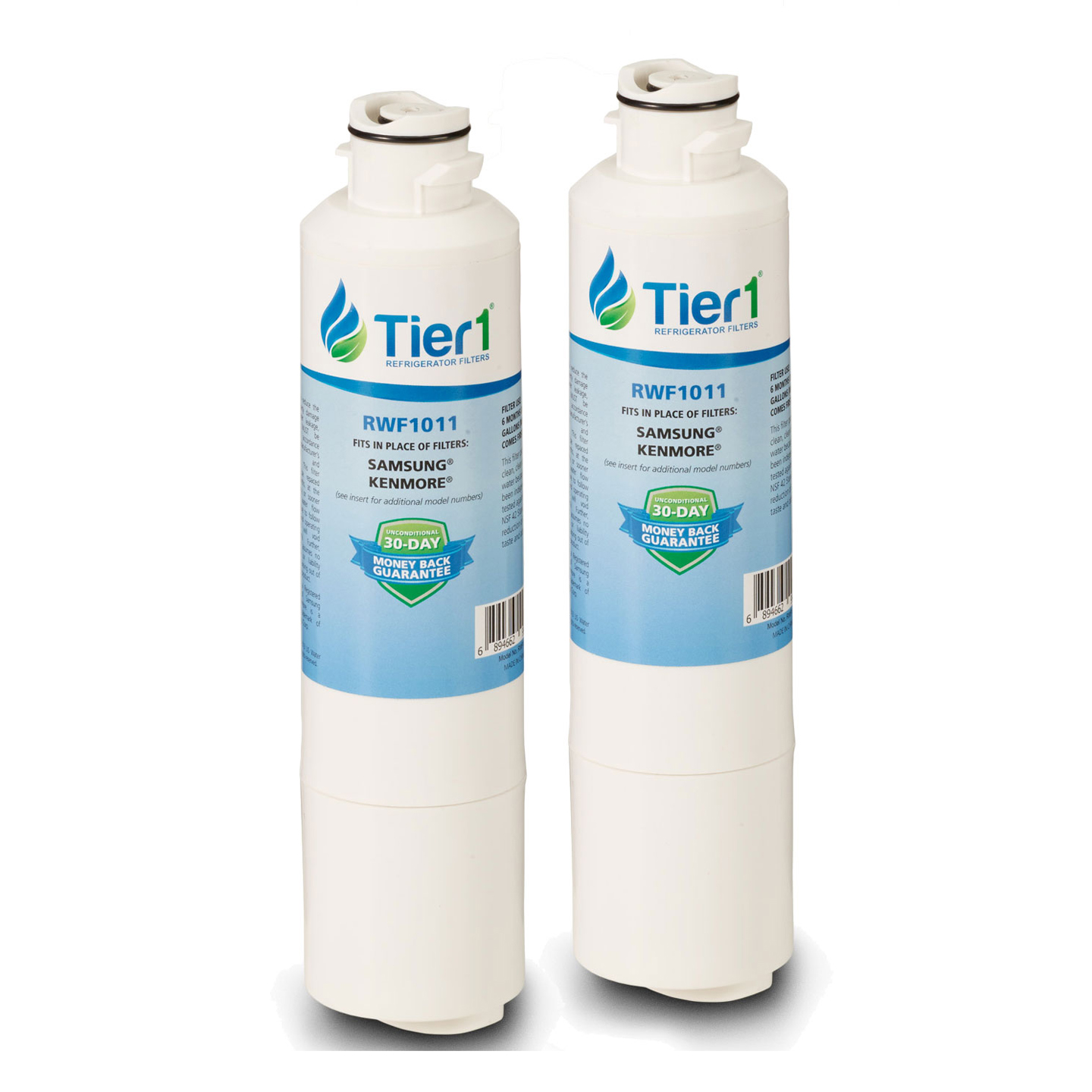 DA29-00020B Samsung Comparable Refrigerator Water Filter Replacement By Tier1 (2 Pack) TIER1_RWF1011_2_PACK