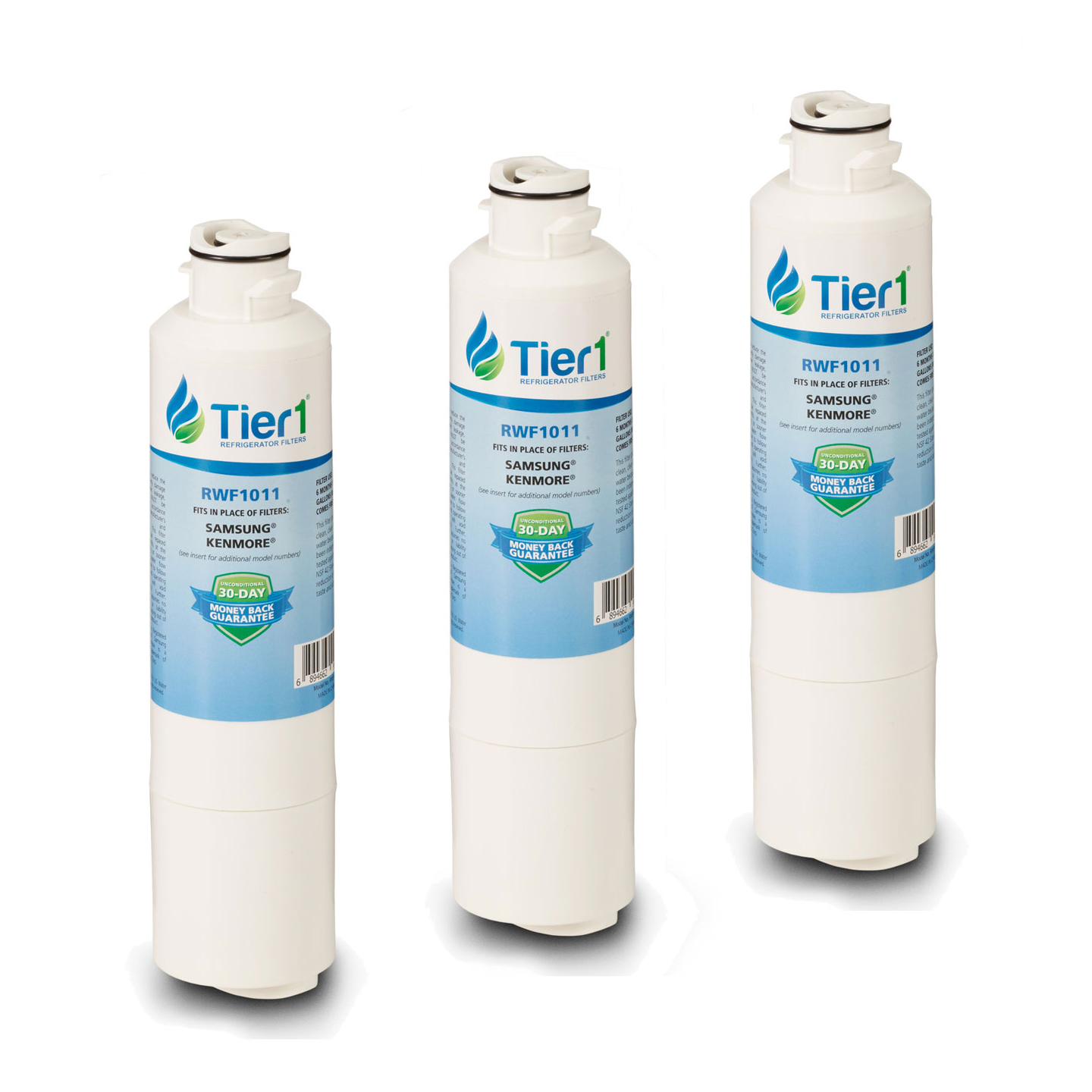 DA29-00020B Samsung Comparable Refrigerator Water Filter Replacement By Tier1 (3 Pack) TIER1_RWF1011_3_PACK
