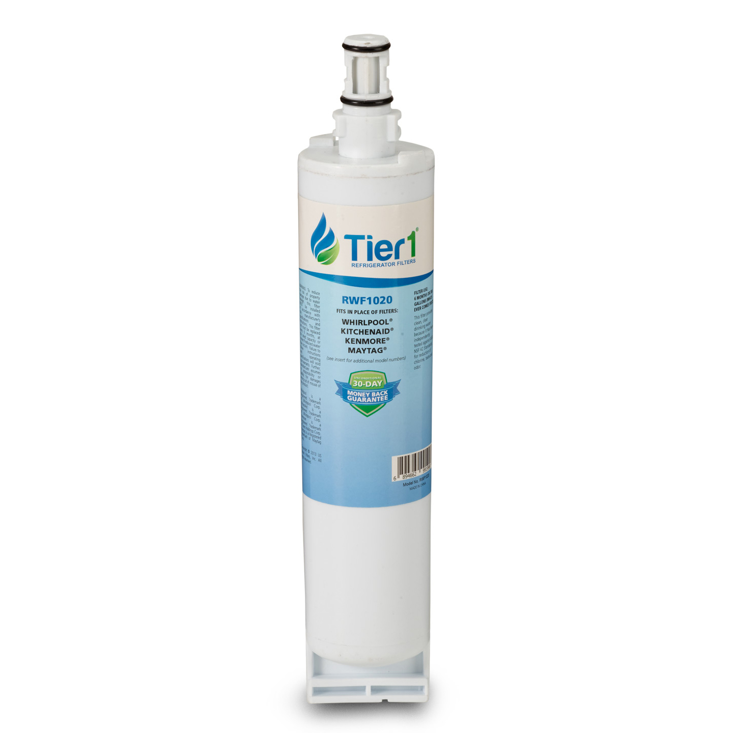 Tier1 EveryDrop EDR5RXD1 Whirlpool 4396508/4396510 Refrigerator Water Filter Replacement Comparable TIER1-RWF1020