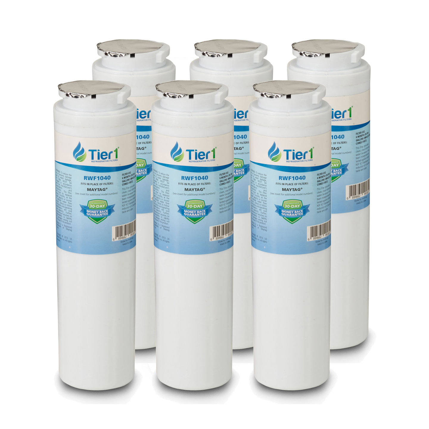 UKF8001 Maytag Comparable Refrigerator Water Filter Replacement By Tier1 (6 Pack) TIER1_RWF1040_6_PACK