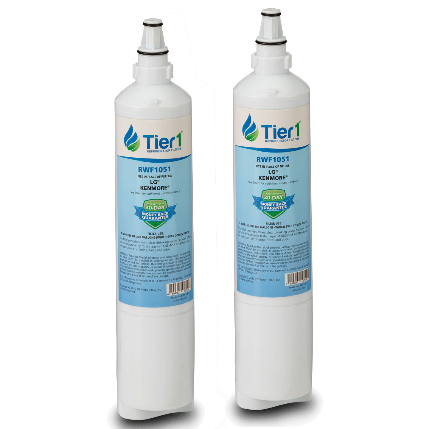 5231JA2006A / LT600P LG Comparable Refrigerator Water Filter Replacement By Tier1 (2 Pack) TIER1_RWF1051_2_PACK