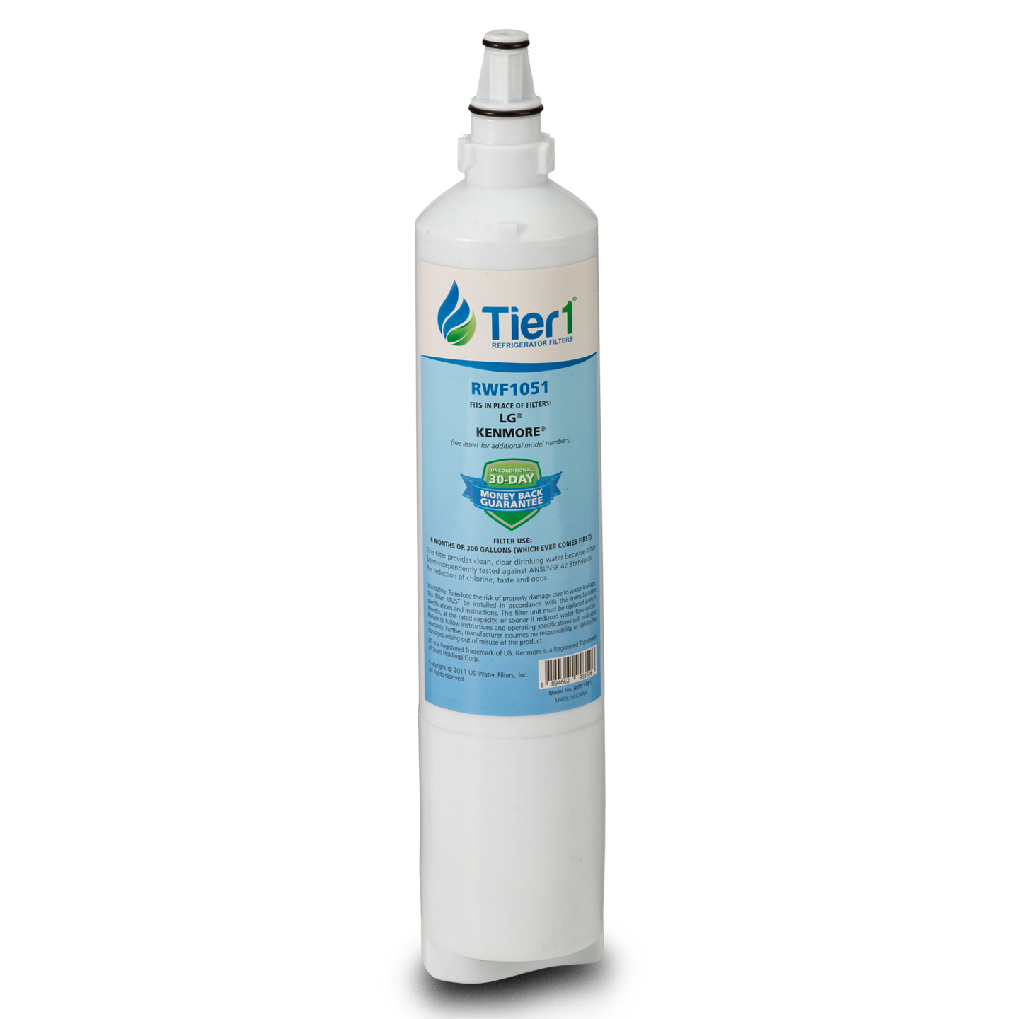 Tier1 LG 5231JA2006A / LT600P Refrigerator Water Filter Replacement Comparable TIER1-RWF1051