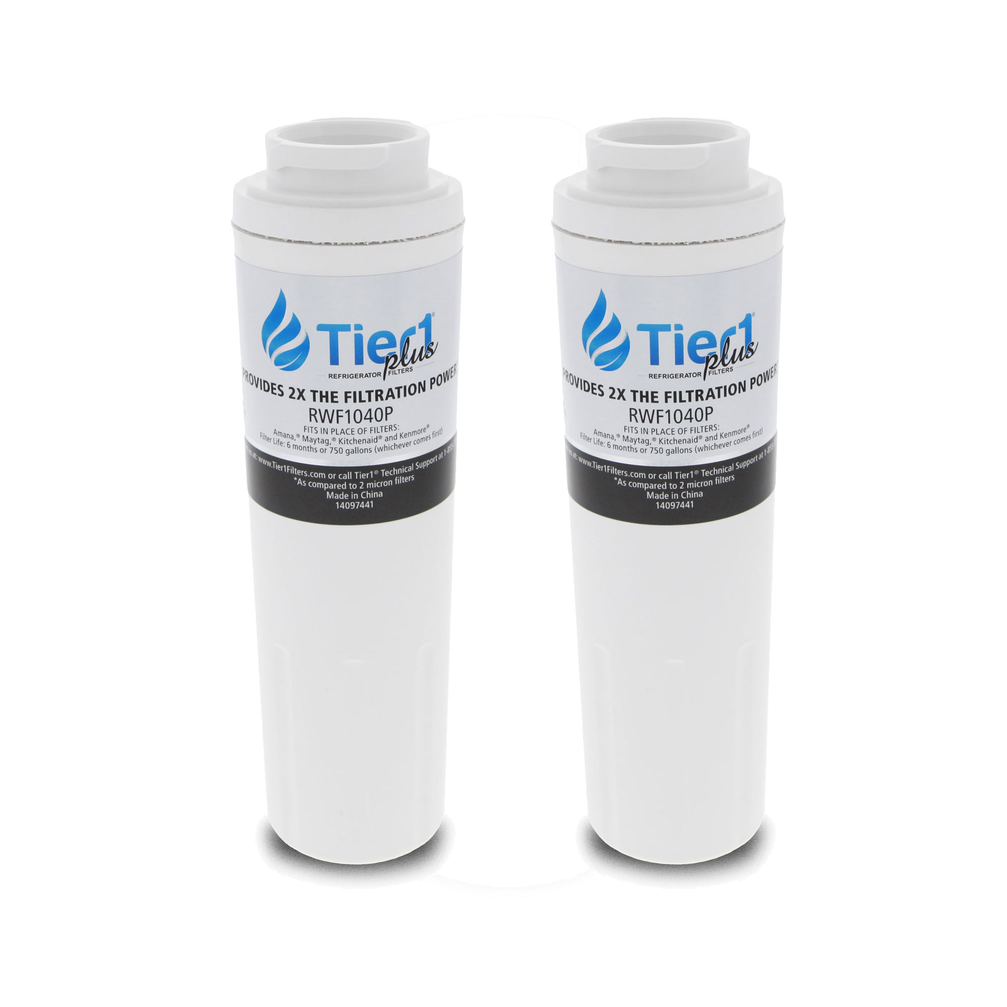 EDR4RXD1 UKF8001 Maytag Comparable Refrigerator Water Filter Replacement by Tier1 Plus (2-Pack) TIER1_RWF1040P_2_PACK