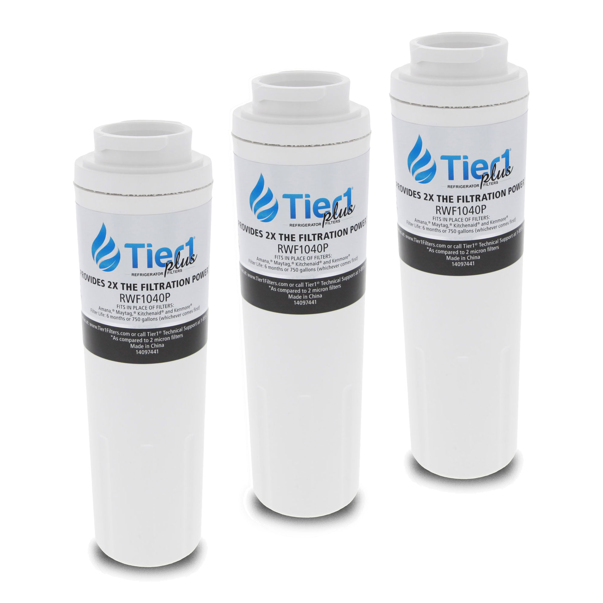 EDR4RXD1 UKF8001 Maytag Comparable Refrigerator Water Filter Replacement by Tier1 Plus (3-Pack) TIER1_RWF1040P_3_PACK