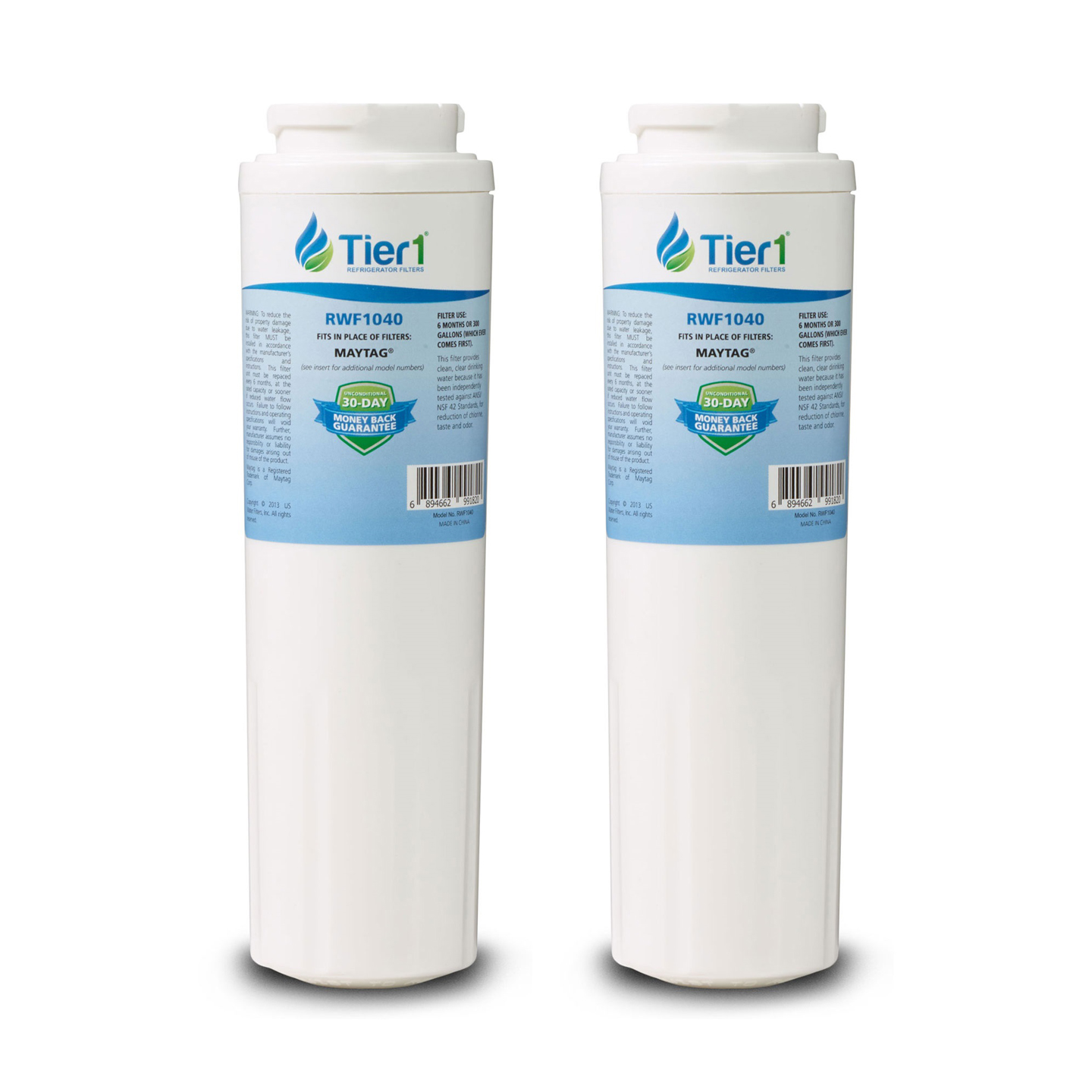 EDR4RXD1 EveryDrop UKF8001 Maytag Comparable Refrigerator Water Filter Replacement By Tier1 (2-Pack) TIER1_RWF1040_TY_2_PACK