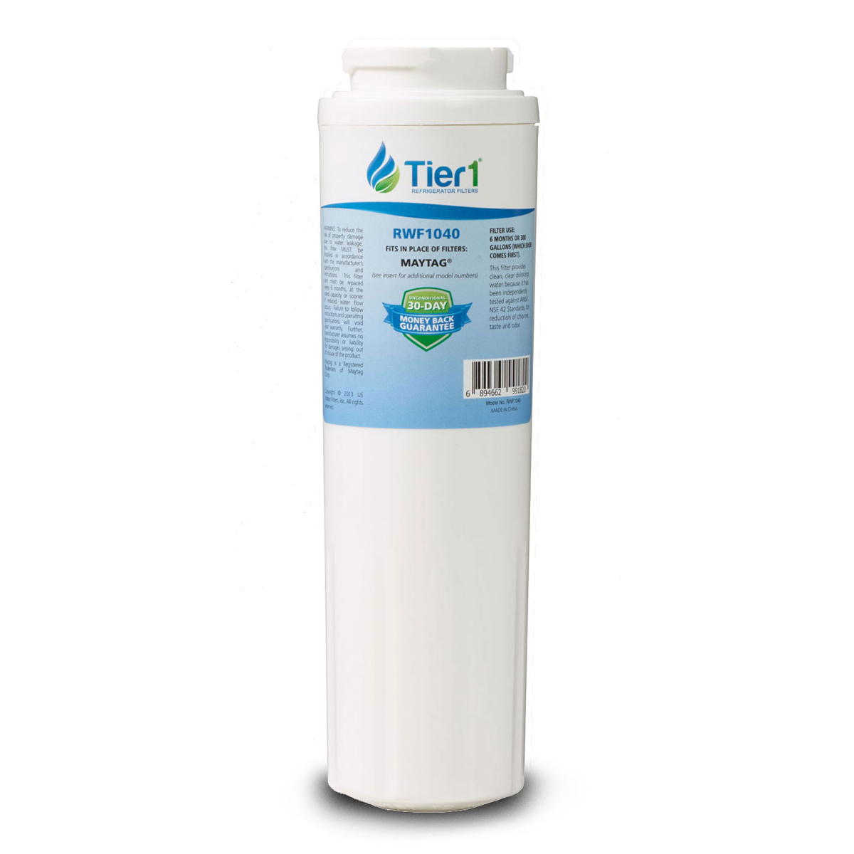 Tier1 EveryDrop EDR4RXD1 Maytag UKF8001 Refrigerator Water Filter Replacement Comparable TIER1-RWF1040