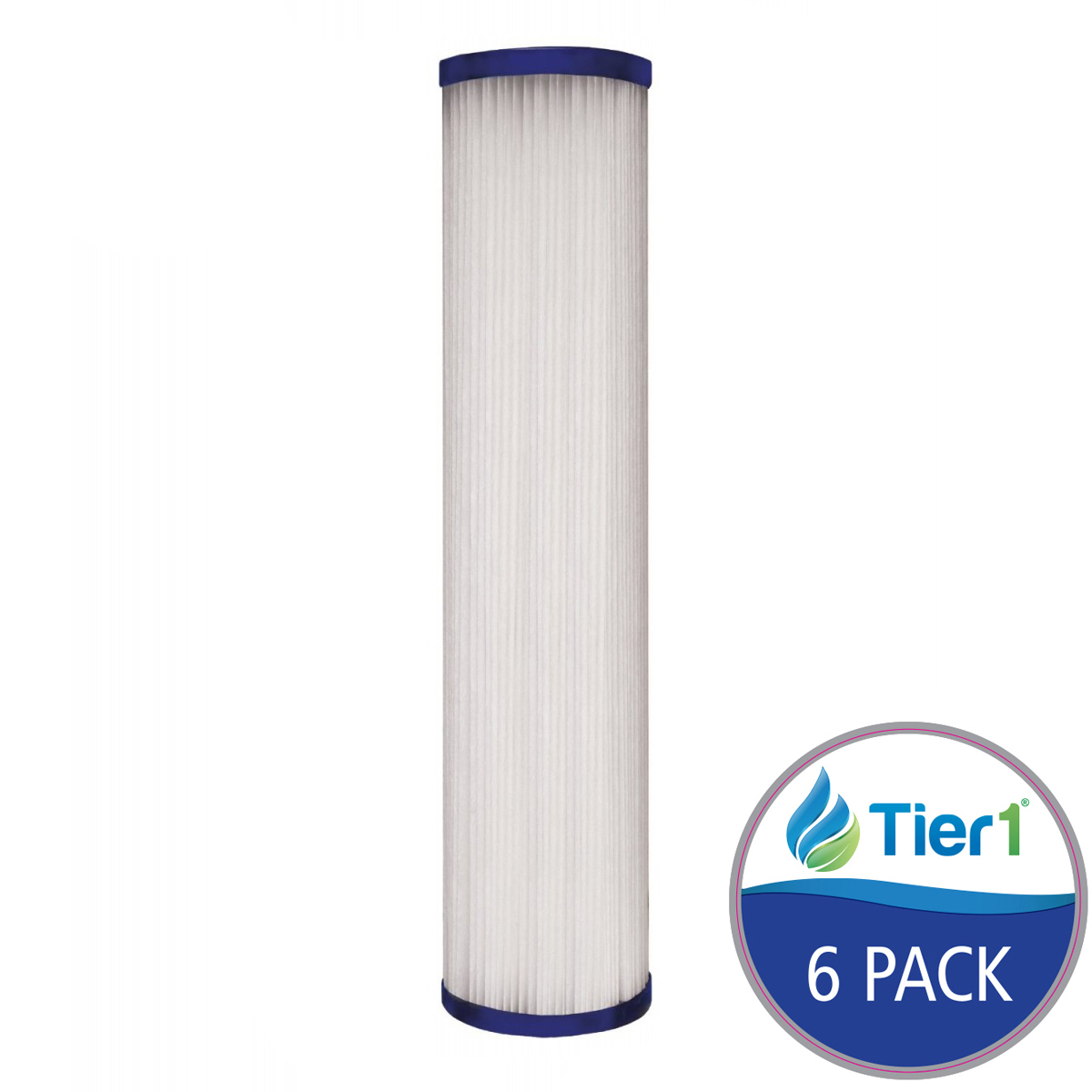 SPC-25-1005 Hydronix Comparable Pleated Sediment Water Filter by Tier1 (6-Pack) TIER1_SPC_25_1005_6_PACK