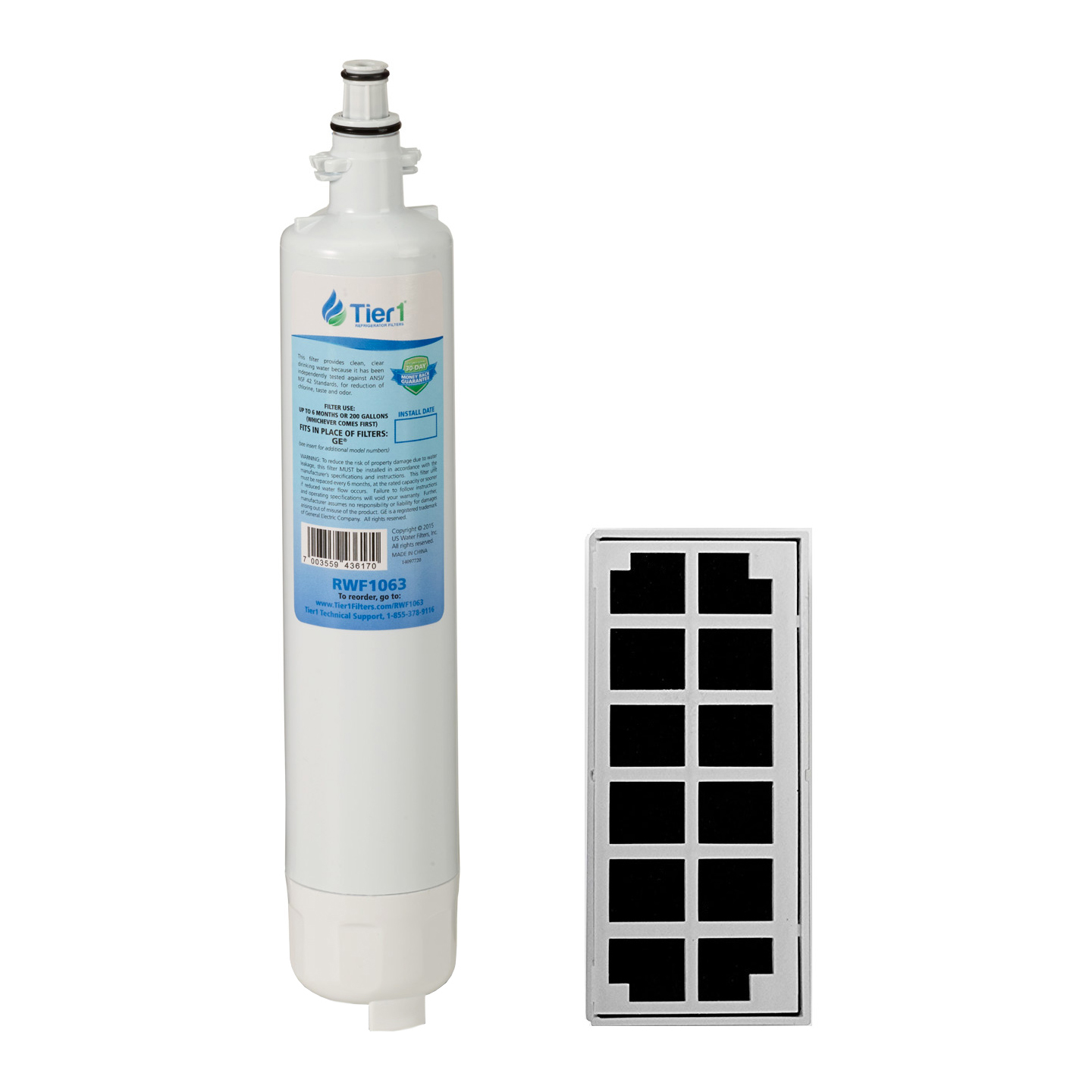 GE RPWF with Odor Filter Comparable Refrigerator Water and Air Filter Combo by Tier1 TIER1_RWF1063_COMBO