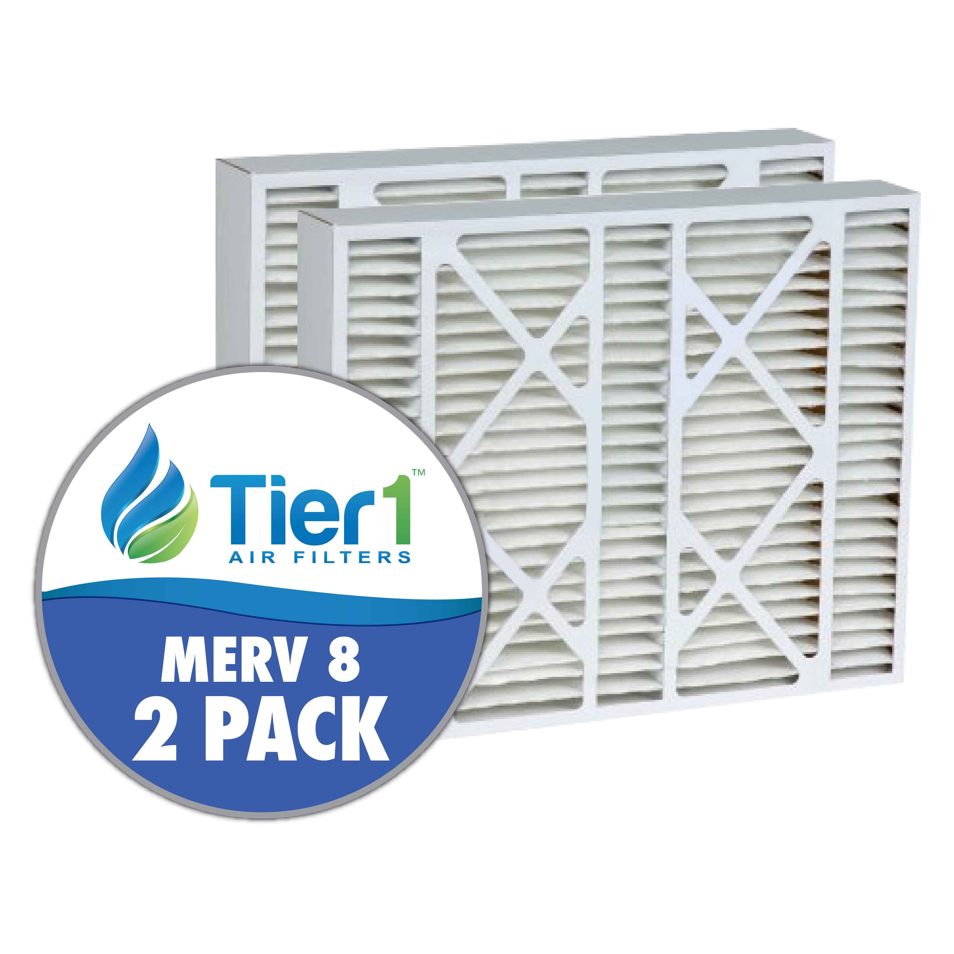 Tier1 brand replacement for White-Rodgers F825-0586 & FR1600-100 - 20 x 21 x 5 - MERV 8 (2-Pack) TIER1-DPFI20X21X5