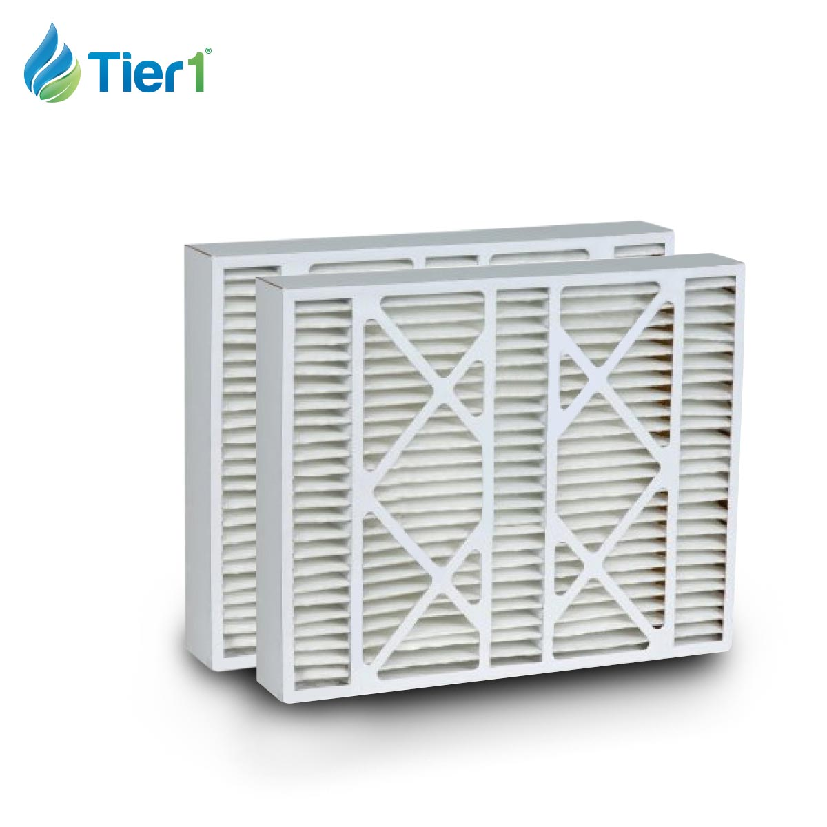 Tier1 brand replacement for White-Rodgers FR2000U-108 & FR2000U-110 - 20 x 25 x 5 - MERV 13 (2-Pack) TIER1-DPFI20X25X5M13