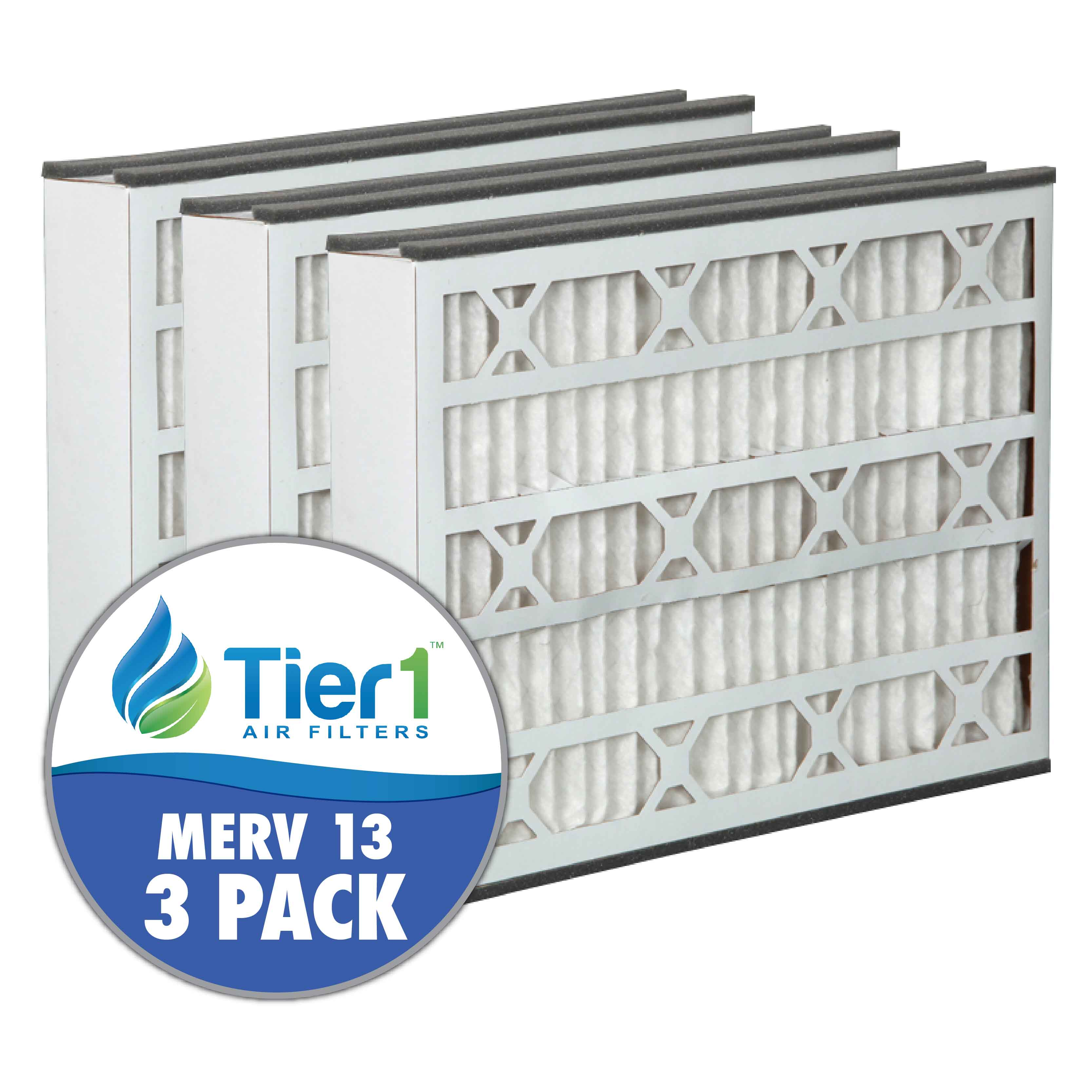 Tier1 brand replacement for Bryant - 16 x 25 x 3 - MERV 13 (3- Pack) TIER1-DPFR16X25X3M13DBT
