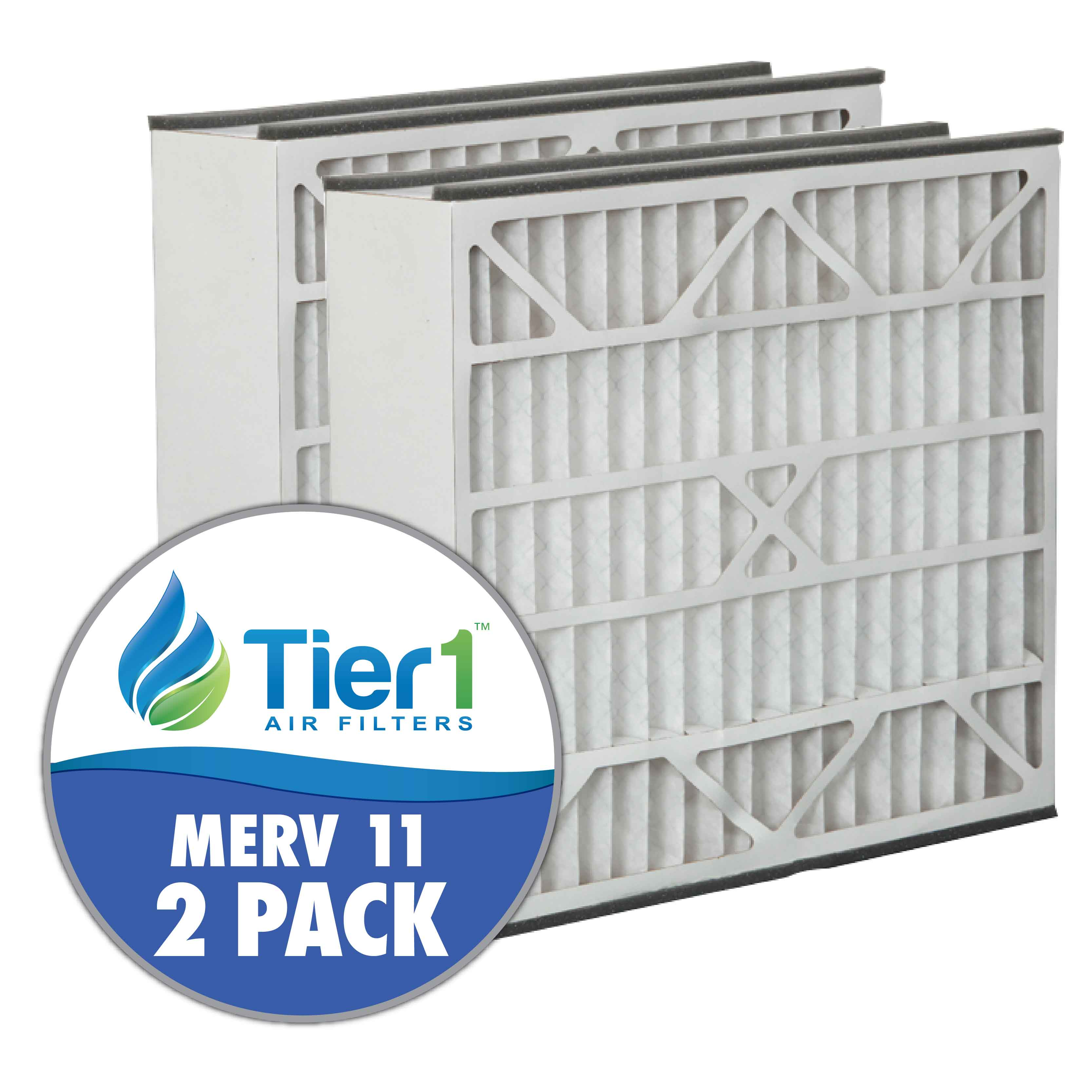 Tier1 Air Cleaner Filter for GeneralAire: 16 x 25 x 5 - MERV 11 (2-Pack) TIER1-DPFR16X25X5M11DGL