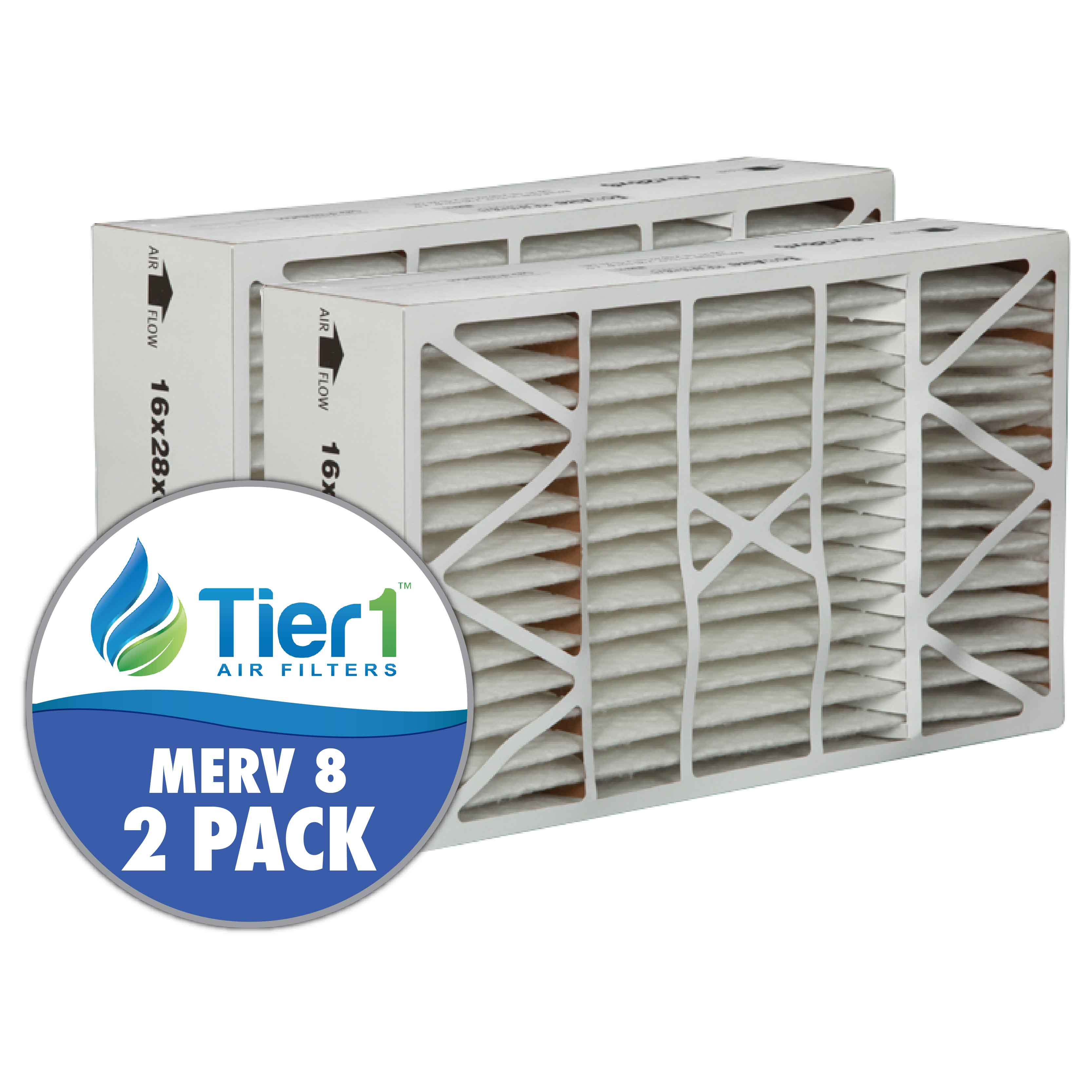 Tier1 brand replacement for Aprilaire #401 - 16 x 28 x 6 - MERV 8 (2-Pack) TIER1-DPFS16X28X6