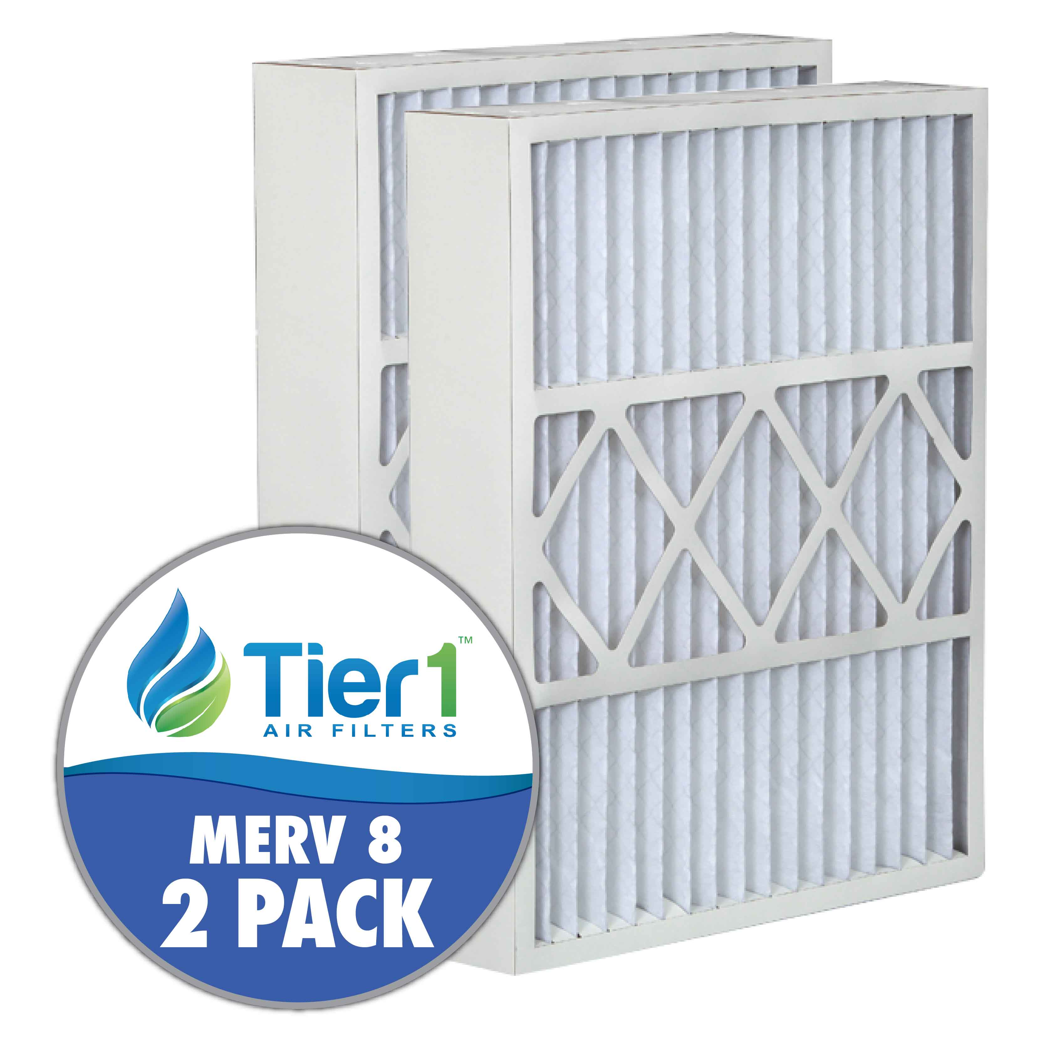 Tier1 brand replacement for Honeywell FC100A1029, FC100C1009 & FC200E1029 - 16 x 25 x 5 - MERV 8 (2-Pack) TIER1-DPFW16X25X5