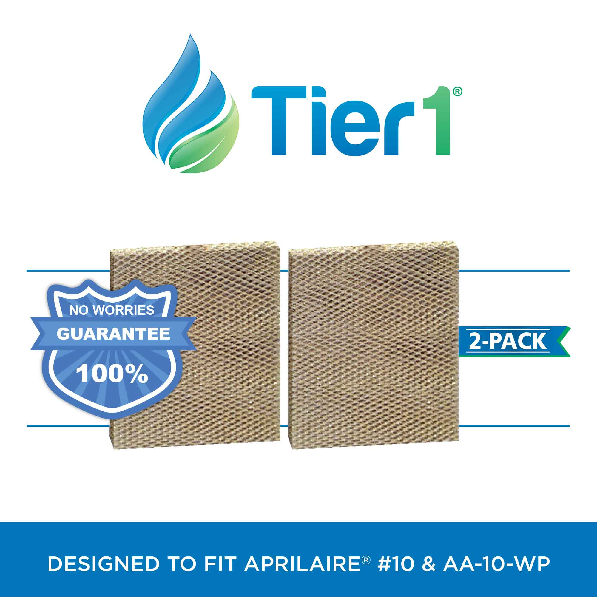 #10 Aprilaire Comparable Humidifier Replacement Water Panel by Tier1 (2-Pack) TIER1_HMF1220_2_PACK