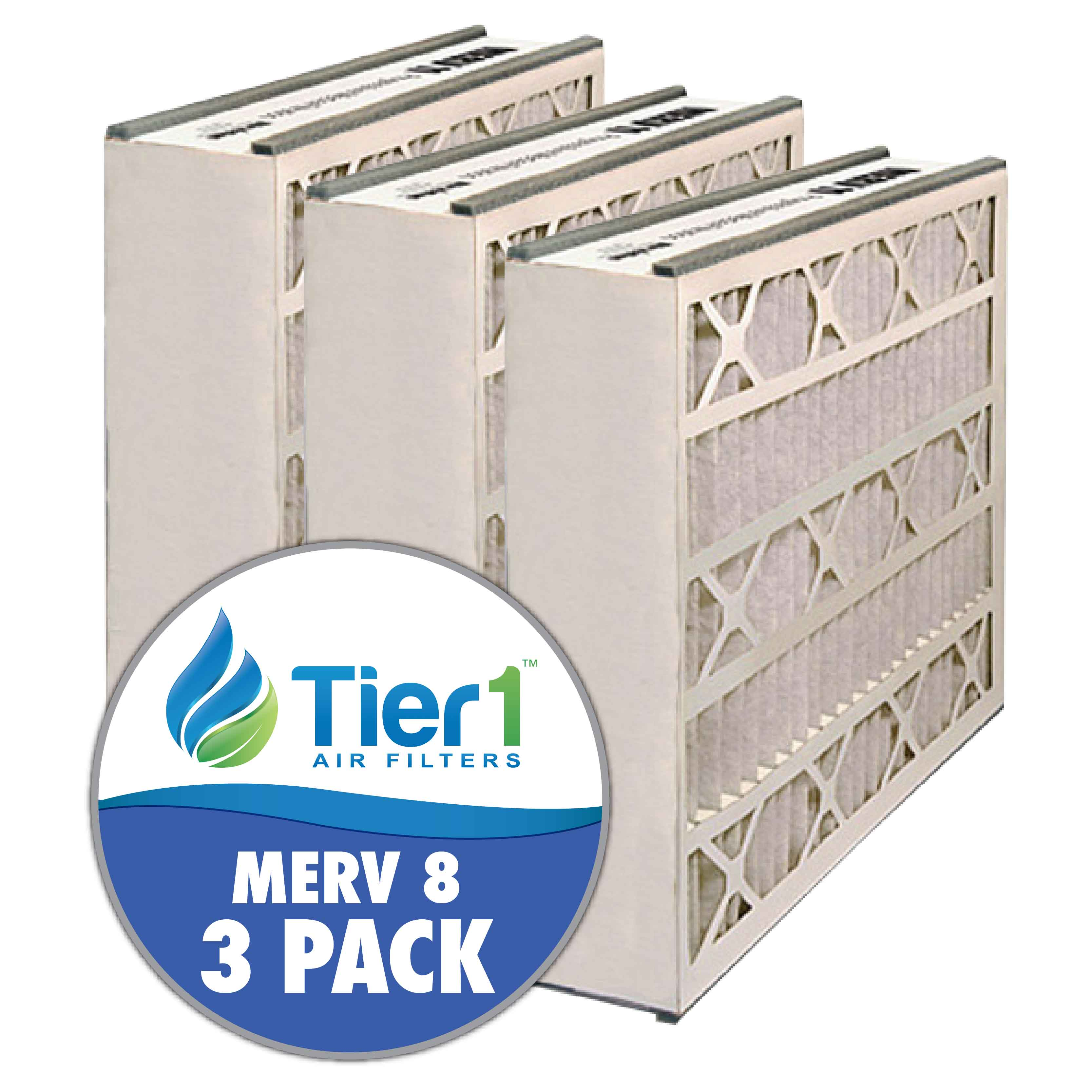 16x25x3 255649-101 & 259112-101 Trion / Air Bear MERV 8 Comparable Air Filters by Tier1 (3-pack) TIER1-RDPAB031625M08