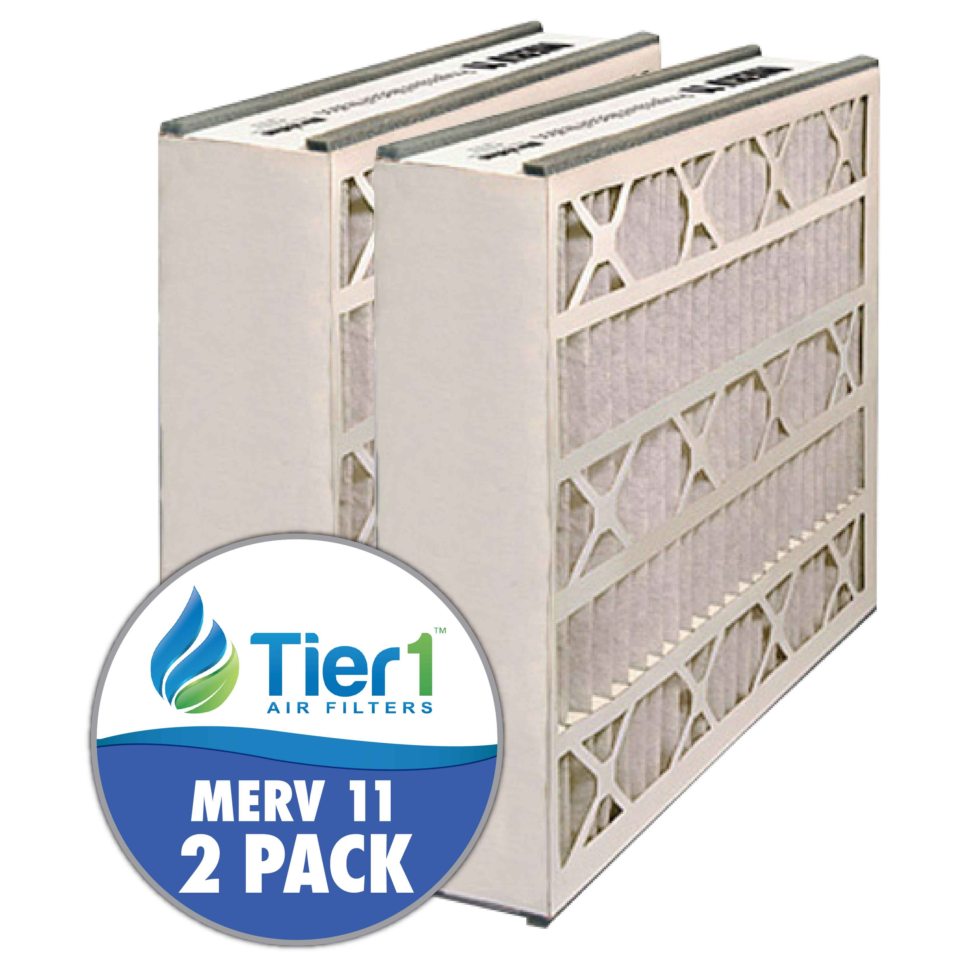 20x20x5 255649-103 & 259112-103 Trion / Air Bear MERV 11 Comparable Air Filter by Tier1 (2-pack) TIER1-RDPAB052020M11